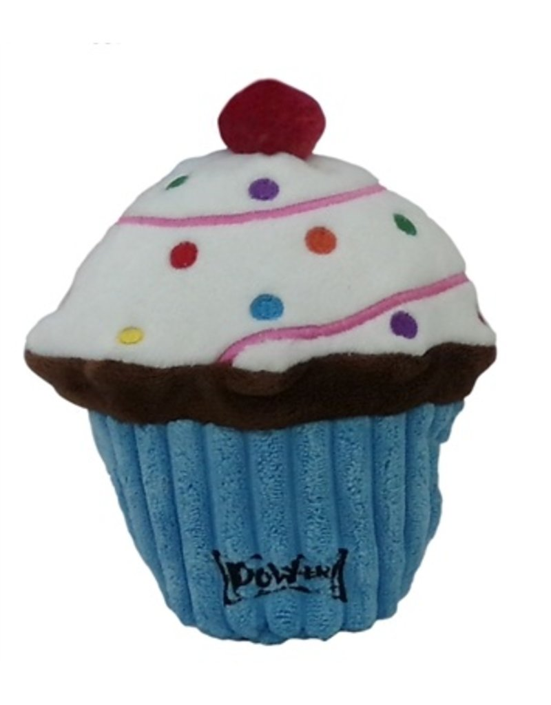 Lulubelles Power Plush Blue Pup-cake Dog Toy, Small