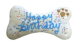 K9 Granola Factory - Happy Birthday Dog Bone Blue, 8''