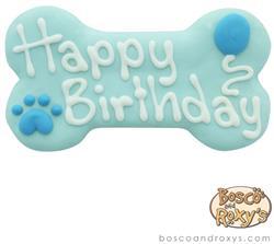 Bosco & Roxy's - BlueBirthday Collection Happy Birthday Bone