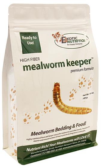 Exotic Nutrition Mealworm Keeper, 10-oz