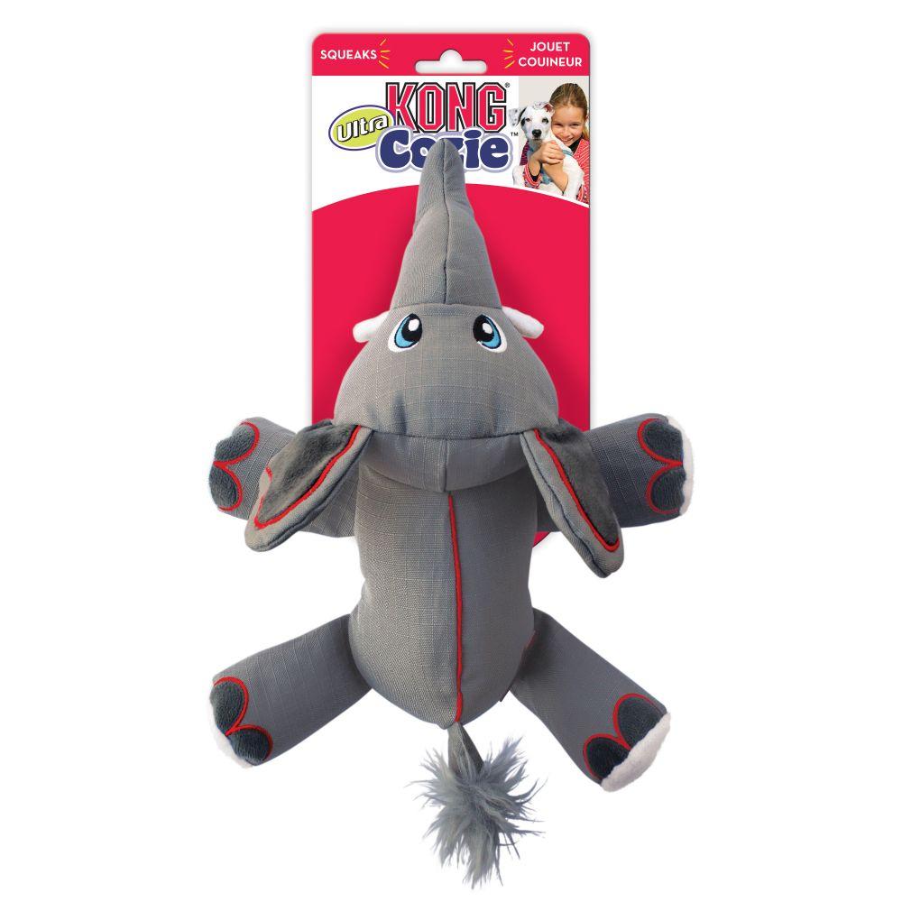 KONG Cozie Ultra Ella the Elephant Dog Toy, Medium