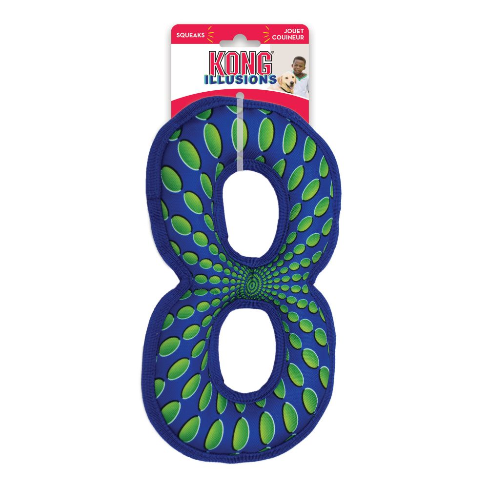 KONG Illusions Figure Eight Dog Toy, Large