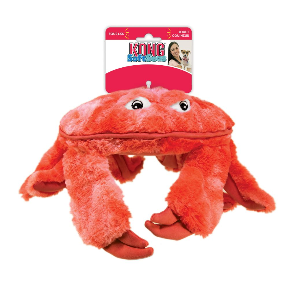 KONG SoftSeas Crab Plush Dog Toy, Large