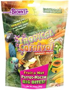 Brown's Big Bites Fruit & Nut Parrot-Macaw, 10-oz
