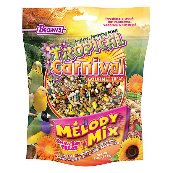 Brown's Tropical Carnival Melody Mix Small Bird Treat, 5-oz bag