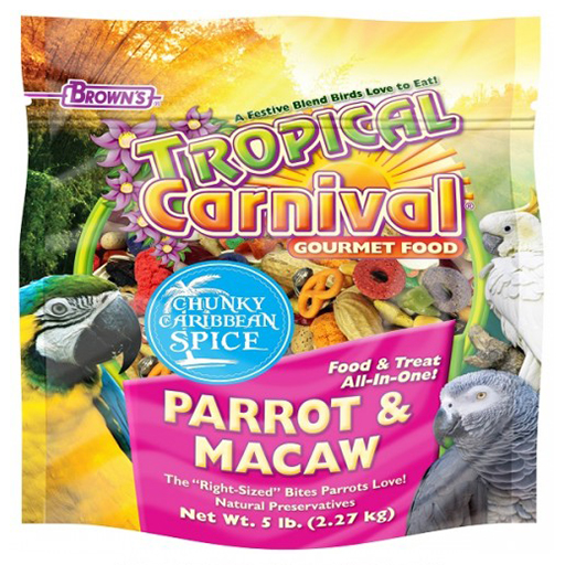 Brown's Tropical Carnival Chunky Caribbean Spice Parrot & Macaw Food