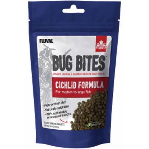 Fluval Bug Bites Cichlids Formula for Medium-Large Fish, 3.53-oz