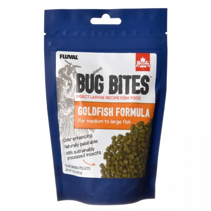 Fluval Bug Bites Goldfish Formula for Medium-Large Fish, 3.53-oz