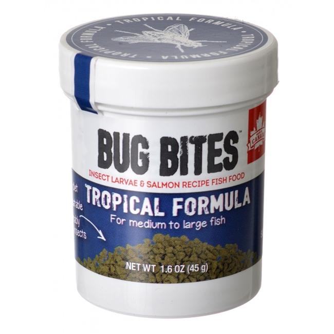 Fluval Bug Bites Tropical Formula for Medium-Large Fish, 1.6-oz