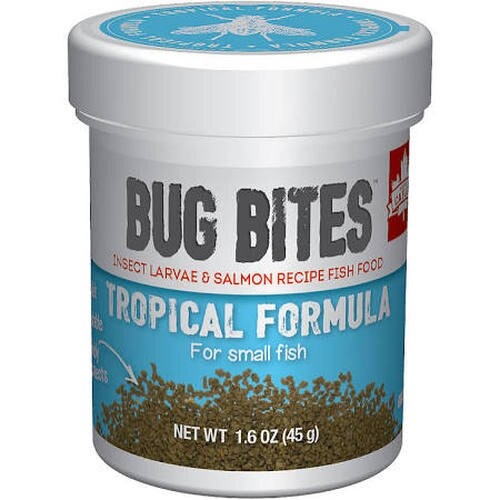 Fluval Bug Bites Tropical Formula for Small Fish, 1.6-oz