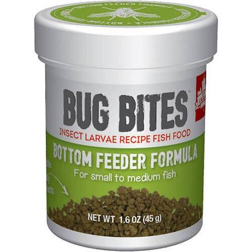 Fluval Bug Bites Bottomfeeder Formula for Small-Medium Fish, 1.6-oz