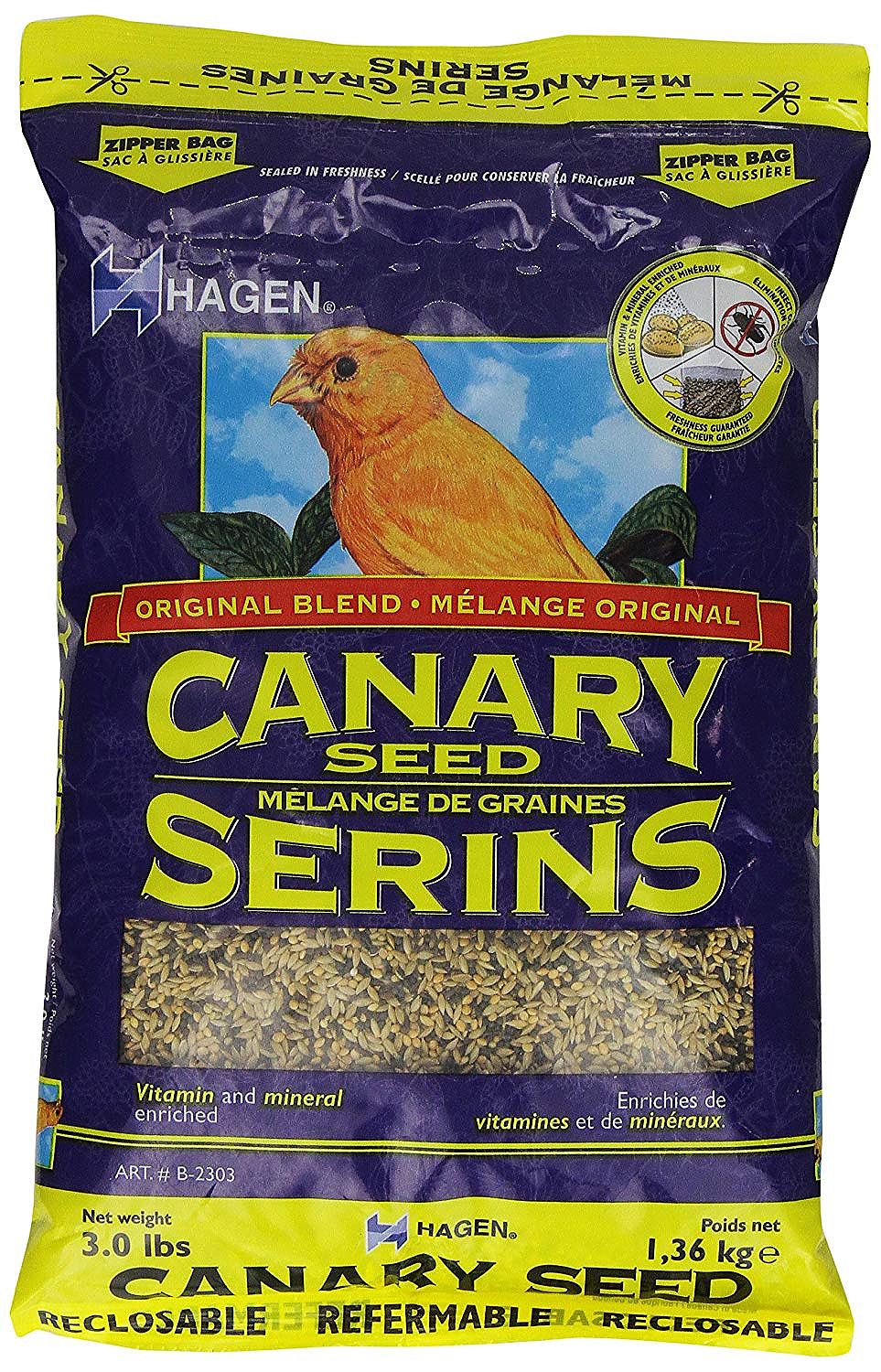 Hagen Canary Staple VME Seed, 3-lbs