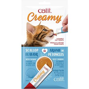 Catit Creamy Lickable Cat Treats Scallop, 5-pk