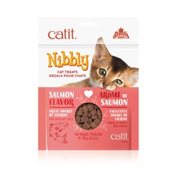 Catit Nibbly Salmon Cat Treat, 3.2-oz