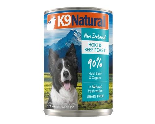 K9 Natural Hoki & Beef Feast Grain-Free Wet Dog Food