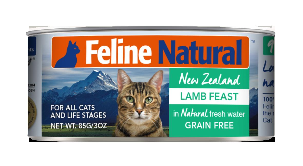 Feline Natural Lamb Feast Grain-Free Wet Cat Food, 3-oz can
