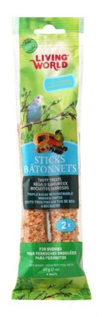 Living World Budgie Sticks Fruit Flavor, 2-oz