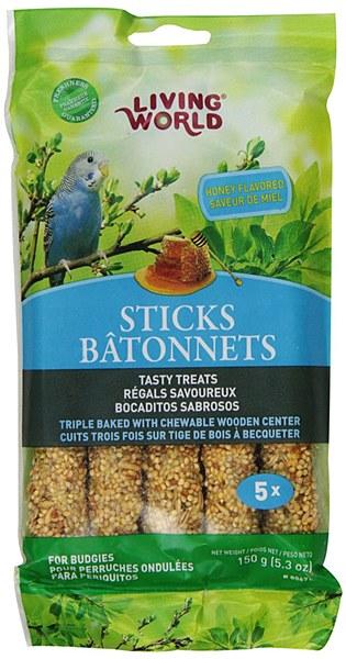 Living World Budgies Sticks Honey Flavor