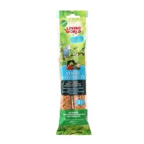 Living World Budgie Sticks Vegetable Flavor, 2-oz