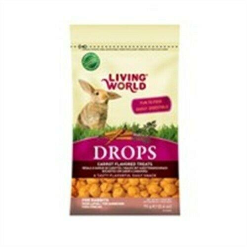 Living World Rabbit Drops Carrot Flavor, 2.6-oz