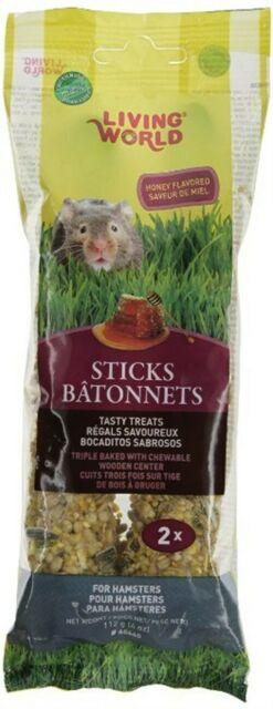 Living World Hamster Sticks Honey Flavor, 4-oz