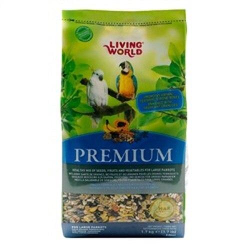 Living World Premium Mix For Large Parrots, 3.7-lbs