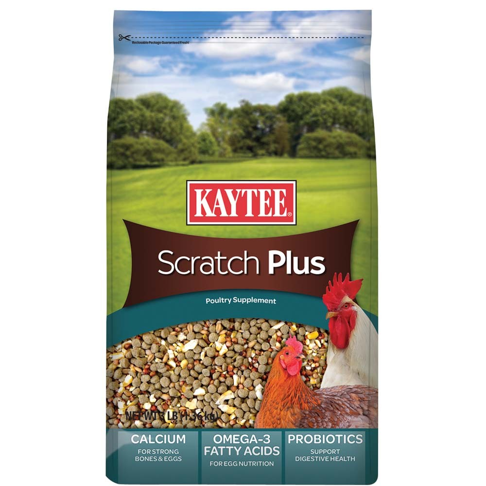 Kaytee Scratch Plus Poultry Supplement, 3-lbs