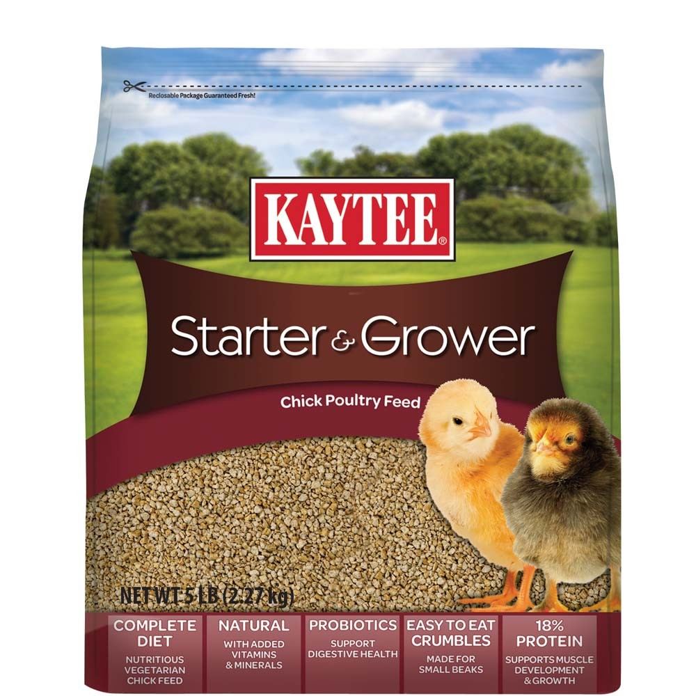 Kaytee Starter & Grower Chick Poultry Feed, 5-lbs
