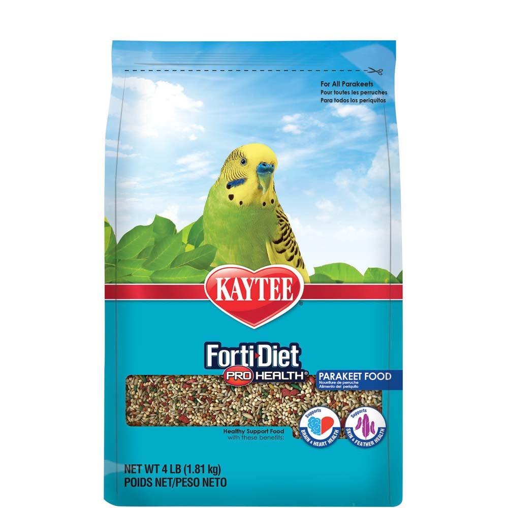 Kaytee Forti-Diet Pro Health Parakeet Bird Food, 4-lbs