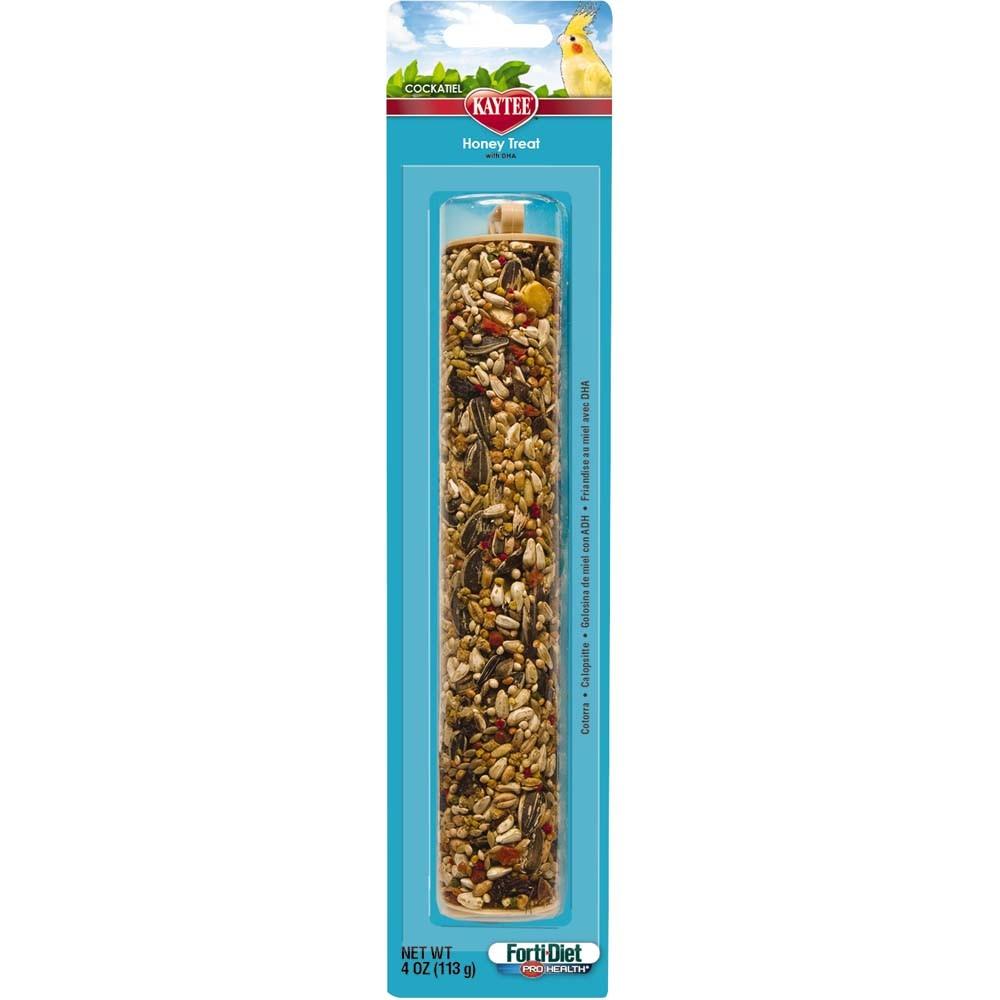 Kaytee Forti-Diet Pro Health Cockatiel Honey Stick, 4-oz