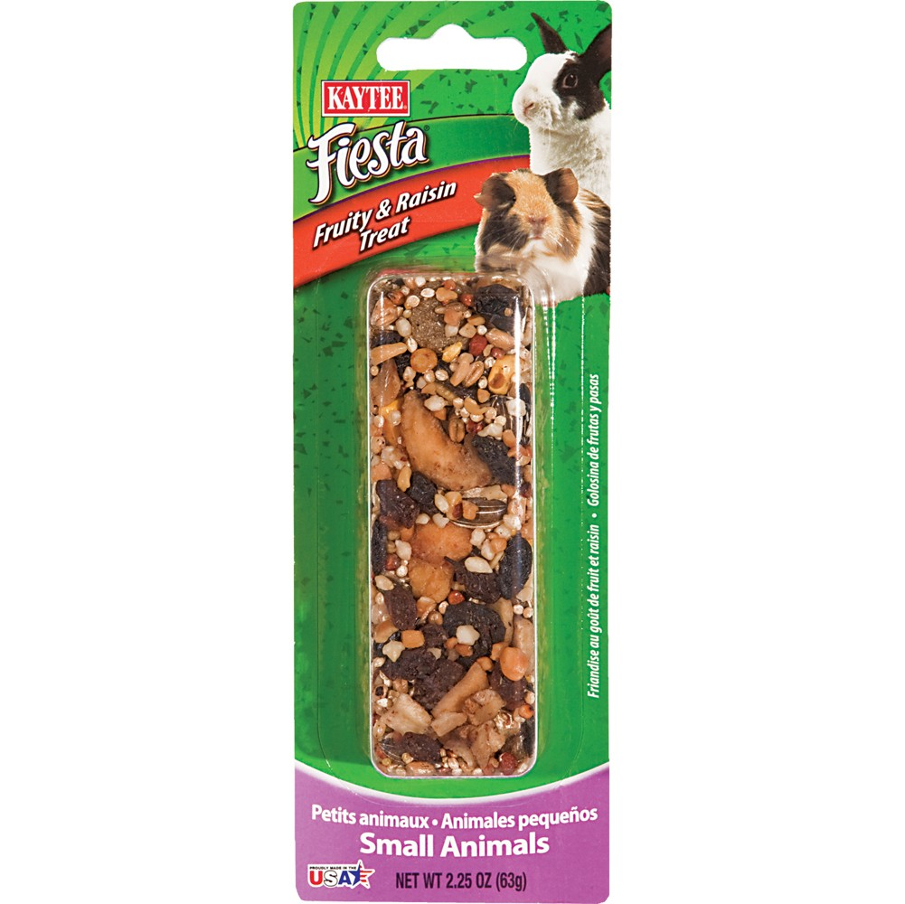 Kaytee Fiesta Fruit/Raisin Small Animal Stick, 2.25-oz