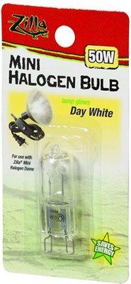 Zilla Mini Day White Halogen Bulb for Reptile Terrariums, 50-watt