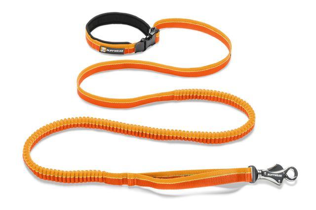 Ruffwear Roamer Stretchy Waist Worn Dog Leash, Orange Sunset, 5.5' - 7'