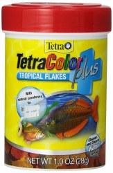 Tetra Color Plus Tropical Flakes Fish Food, .1-oz