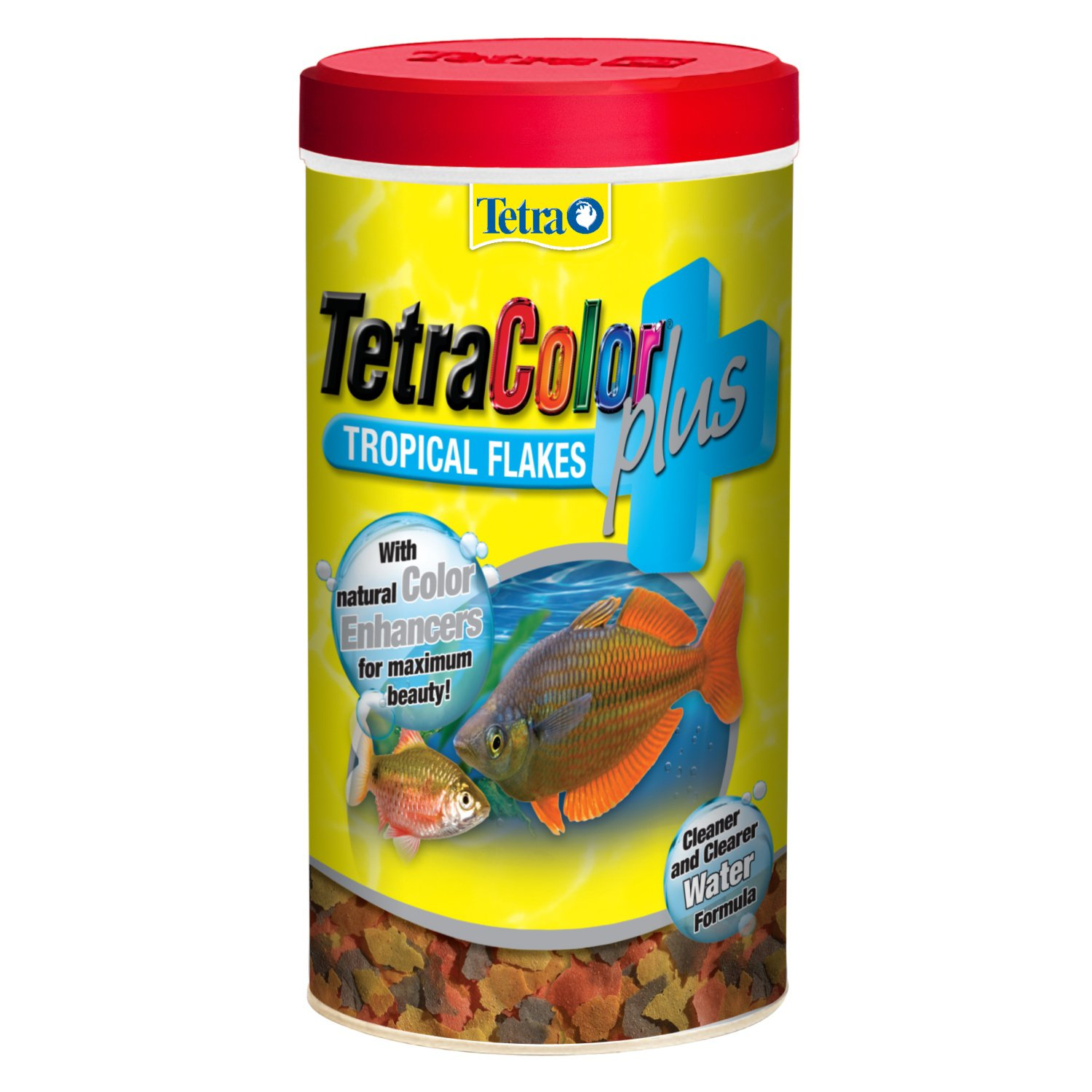 Tetra Color Plus Tropical Flakes Fish Food, 7.06-oz