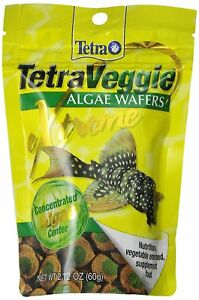 Tetra PRO PlecoWafers Complete Diet for Algae Eaters Fish Food, 2.12-oz