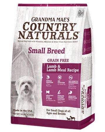 Grandma Mae's Country Naturals Small Grain-Free Lamb & Lamb Meal Recipe Dry Dog Food, 14-lb