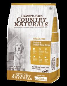 Grandma Mae's Country Naturals Grain-Free Turkey & Turkey Meal Recipe Dry Dog Food, 25-lb