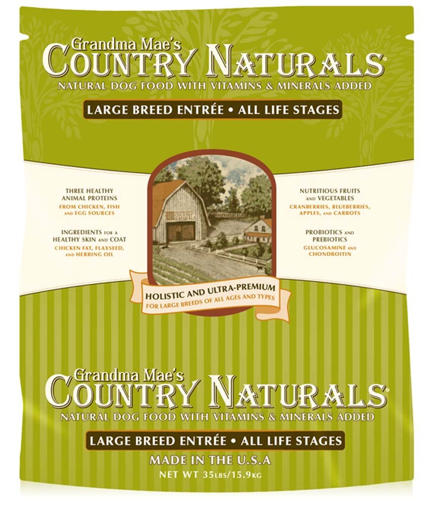 Grandma Mae's Country Naturals Large Breed Chicken & Fish Entrée Dry Dog Food, 14-oz