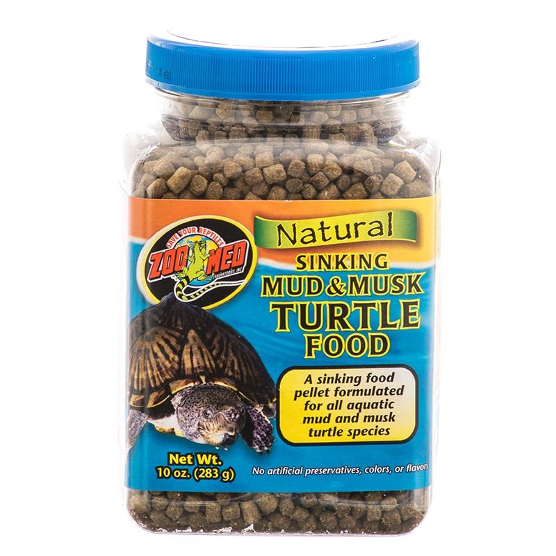 Zoo Med Mud & Musk Sinking Aquatic Turtle Food, 10-oz