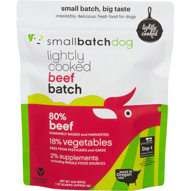 Small Batch Dog Lightly Cooked Beef Batch Frozen Dog Food