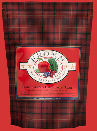 Fromm Four Star Highlander Beef, Oats, and Barley Dry Dog Food, 5-lb