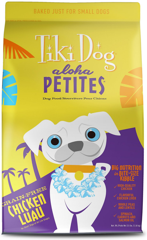 Tiki Dog Aloha Petites Chicken Luau Grain-Free Dry Dog Food, 3.5-lb