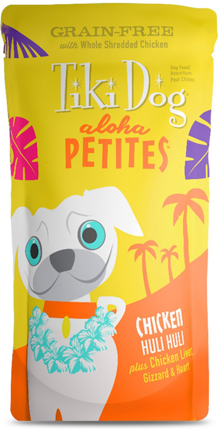 Tiki Dog Aloha Petites Chicken Huli Huli Grain-Free Wet Dog Food, 3.5-oz pouch