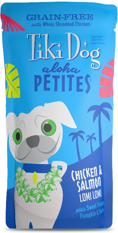 Tiki Dog Aloha Petites Chicken & Salmon Lomi Lomi Grain-Free Wet Dog Food, 3.5-oz pouch