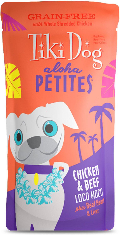 Tiki Dog Aloha Petites Chicken & Beef Loco Moco Grain-Free Wet Dog Food, 3.5-oz pouch