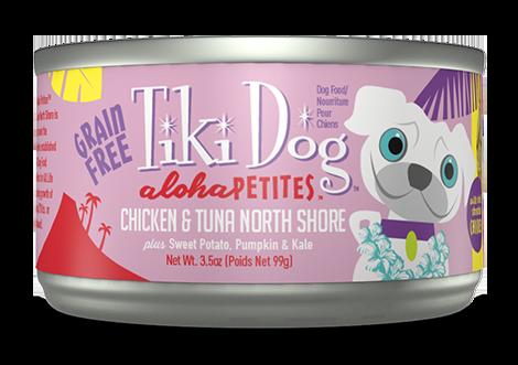 Tiki Dog Aloha Petites Chicken & Tuna North Shore Grain-Free Wet Dog Food, 3.5-oz can