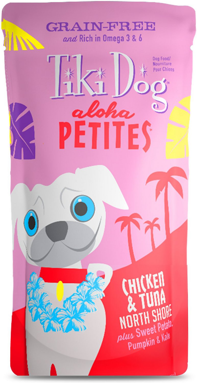 Tiki Dog Aloha Petites Chicken & Tuna North Shore Grain-Free Wet Dog Food, 3.5-oz pouch