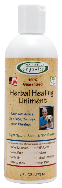 Mad About Organics All Natural Healing Herbal Liniment, 8-oz