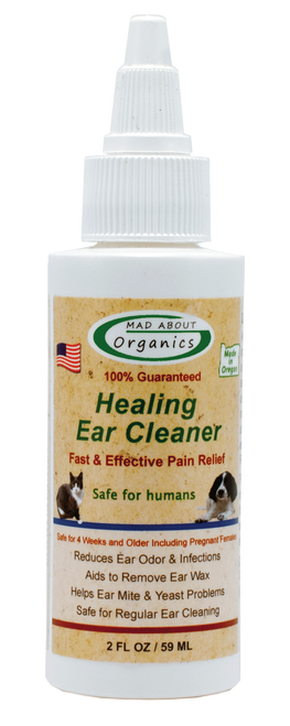 Mad About Organics Healing Ear Cleaner Pain Relief, 2-oz